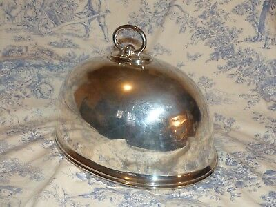 Antique- Walker & Hall Silver Plated Food Dome - Old Food Cover - Unusual