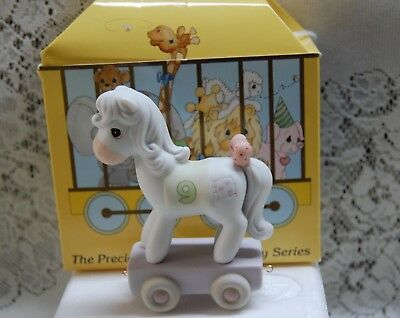 Precious Moments Birthday Train Series Pony 9 Year Old With Box 1991