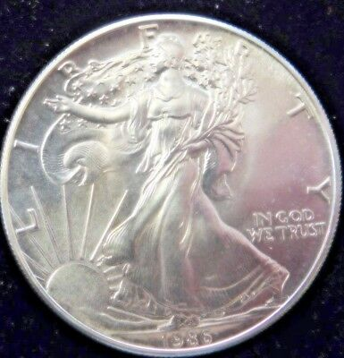 1986 U S  silver eagles  uncirculated 1st year issue (gn