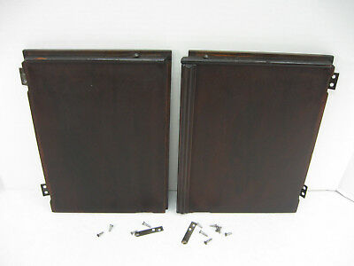 SINGER Sewing Machine D R Cabinet PARTS ~ Front Upper Center DOORS ~ Mahogany