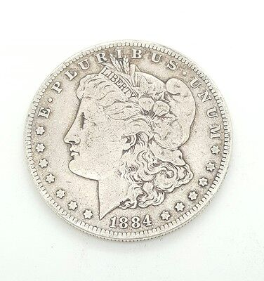 1884-S MORGAN SILVER DOLLAR u.s. $1.00 COIN KEY DATE AU MS OR BETTER