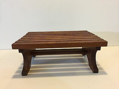 "Vintage Wooden Footstool, Bench, 13 1/2"" x 10"" x 5 1/2"" High"