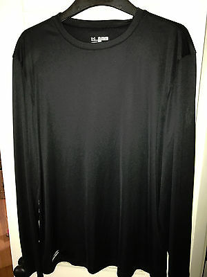 Under Armour HeatGear Loose fit Men's 1248196 Black Long Sleeve T Shirt