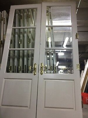 "94 X30"" French Doors With Beveled Glass"