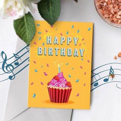 120s Birthday Greeting Card Recordable Musical Singing Recordable Chip 00005