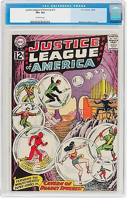 Justice League Of America #16  Cgc Vf+ 8.5 - Wonder Woman - 1962 - Old Label