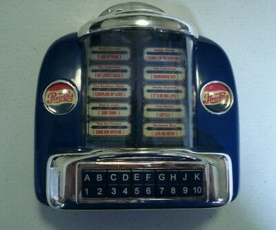 PEPSI COLA COLLECTIBLE Jukebox Bank Plays Music Vintage RARE Plastic Works