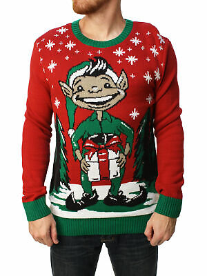 Ugly Christmas Sweater Men's Elf Dick In A Box Pullover Sweater