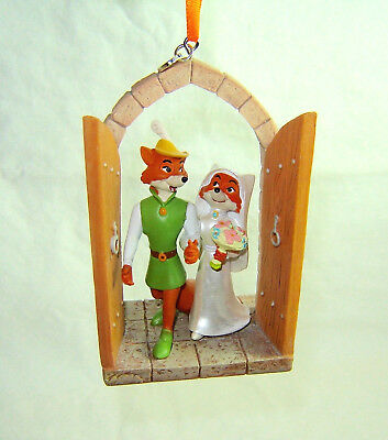 Disney Store 2016 Sketchbook Christmas Ornament Robin Hood and Maid Marian New