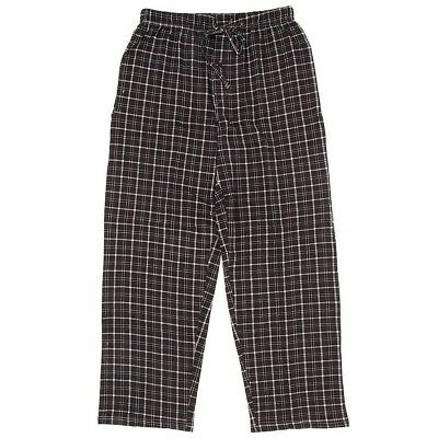 NEW Black Plaid Pajama Pants for Men 100% Cotton