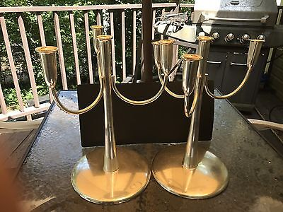 Extremely Rare Pair Of Sambonet Candelabras Made In Italy