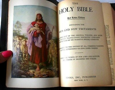 Vintage Holy Bible Red Letter Edition Old and New Testaments