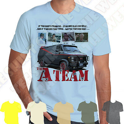 The A-Team Van If You Have A Problem And You Can Find Them Cotton Mens T-shirt