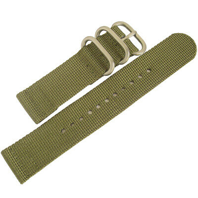 22mm deBeer Green Ballistic Nylon UTC Military Dive Two-Piece Watch Band Strap