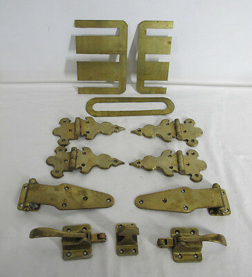 Collection 12 Pieces of Heavy Brass Icebox Ice Box (Refrigerator) Hardware yqz