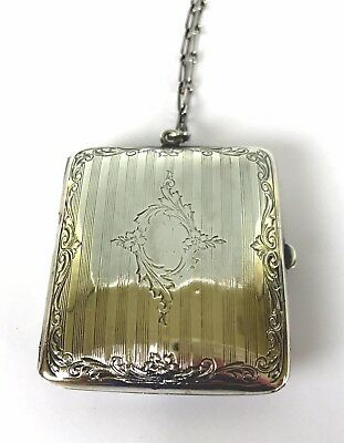 Lovely Webster Sterling Silver Coin Purse on Chain