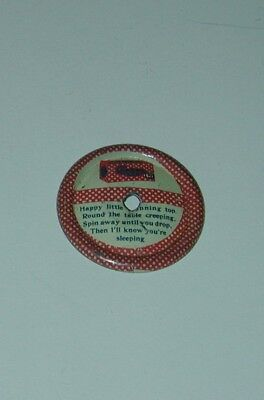 Checkers Popcorn Confection Litho Tin Premium Spinning Top 1920s Cracker Jack
