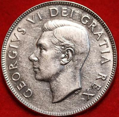 Uncirculated 1951 Canada 50 Cents Silver Foreign Coin Free S/H