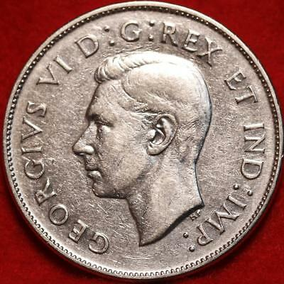 Uncirculated 1945 Canada 50 Cents Silver Foreign Coin Free S/H