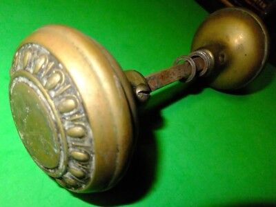Vintage Antique Door Knob set Victorian Art Deco Brass & Bronze Parts Hand Crank