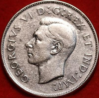 Uncirculated 1947 Canada 50 Cents Silver Foreign Coin Free S/H