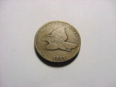 1857 Flying Eagle Cent - Nice Coin - See Pictures!