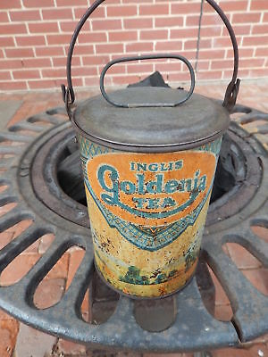 "Rare Inglis ""Goldenia"" Billy Tea Tin Canister"