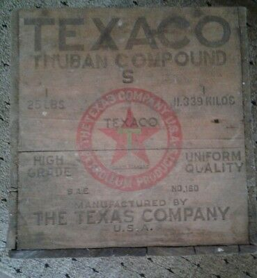 Vintage TEXACO Wooden Crate that held THUBAN COOMPOUND