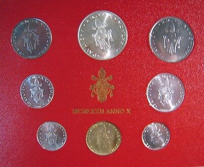 1972 Vatican City Mint Coinage Set Uncirculated 8 Coin**  FREE U.S. SHIPPING  **