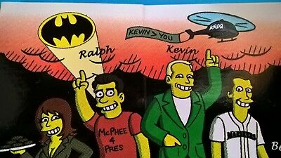 KROQ radio station 106.7 FM Kevin Bean Lisa Ralph  Brad Ableson The SIMPSONS ART