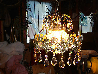 Vintage antique 52 crystal chandelier