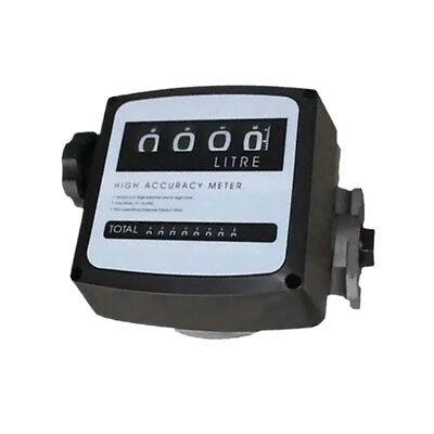 4 Digital Diesel Gas Fuel Oil Flow Meter Counter Gauge High Accuracy 1% 1""