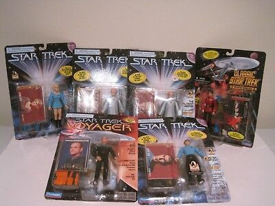 Playmates Star Trek Mixed Lot Of 6 Action Figures 1995-1996