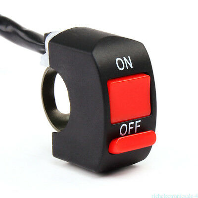 Universal Motorcycle Scooter Dirt Bike ON-OFF Button Headlamp Switch Handlebar