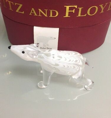 PreOwned Fitz And Floyd Glass Menagerie Polar Bear
