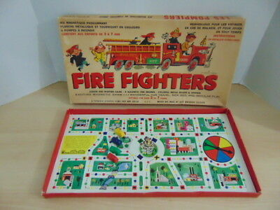 Game Vintage Fire Fighters Magnetic Junior Fire Fighters Game 1950's Complete