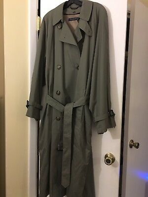Nwot Brooks Brothers Olive Wool Lined Double Breasted Trench Coat 42 Reg