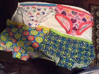4 Pair Girls Sz 12 Fruit Of The Loom Multi Colors High Cut Briefs/boxer  NWOT