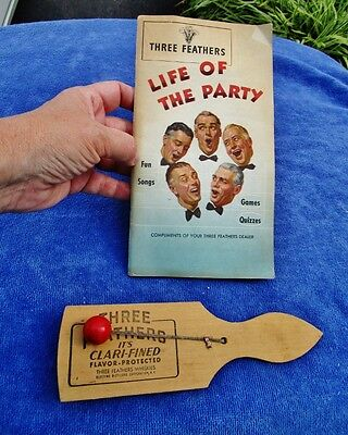 THREE FEATHERS WHISKEY - Vintage Barware Noise Maker & Life of the Party Songs