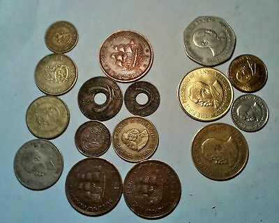 Africa  Lot Of 16 Coins From   S. Africa,  E. Africa, Kenya, See Desc For List