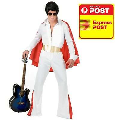 Elvis Adult with red cape costume Halloween Sale