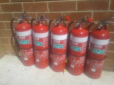 Fire Extinguishers 4.5 KG ABE x 5 Pick up only from Mosman or North Ryde*