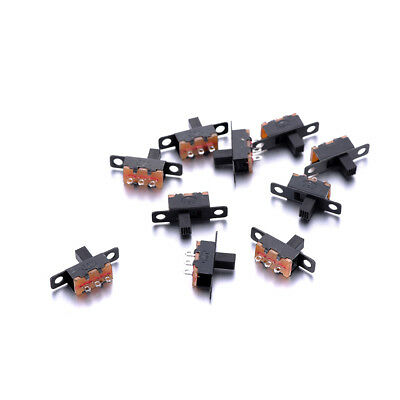 10pcs DC 50V 0.5A 3 Pins Toggle Switches 1P2T 5MM Shank 20*6*12mm