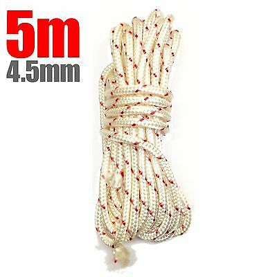 5m 4.5mm Starter Pull Cord Rope Recoil Start Petrol Generator Compactor Pullcord