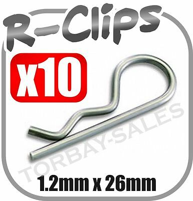 10x Small R Clips Retaining Pins Wire 1.2mm 22mm Spring Pin Cotter Securing