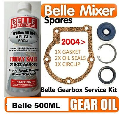 2004> SERVICE KIT Oil Seal Gasket Belle Cement Concrete Mixer Spares Parts