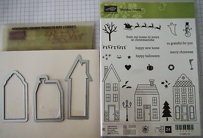 Stampin Up - Bundle Holiday Home Stamps & Homemade Holiday Dies (Retired)