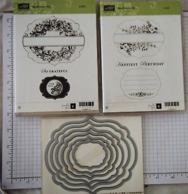 Stampin Up! - Bundle Apothecary Art  & Framelits Label Collection(Retired)