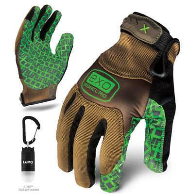 Ironclad Large Tan/Green EXO Project Grip Shop Gloves P/N EXO-PGG-04-L