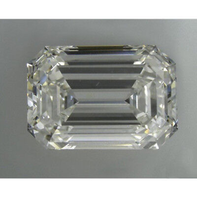 3.90 ct 10.40 x 8.30 mm VVS2 Off White Yellow Emerald Cut Loose Moissanite GBP